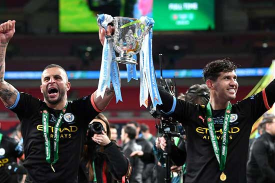 Pep Guardiola's team win third successive Carabao Cup