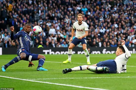 Dele Alli tucked home a late equaliser for Tottenham in their home clash against Waford before lengthy intervention from VAR.