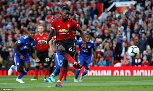 Paul Pogba captained Manchester United, and gave them the perfect start with a penalty after just three minutes