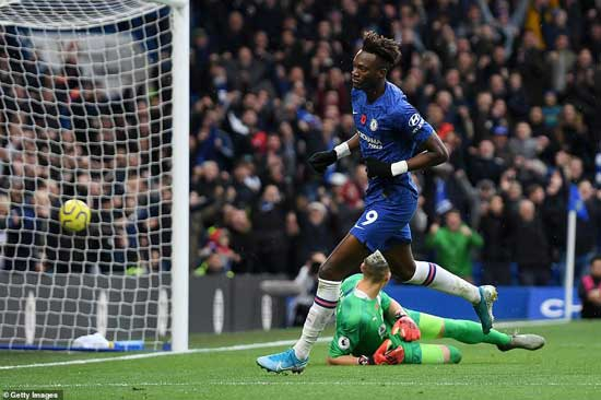 Tammy Abraham's strike earned Chelsea a deserved lead after a first-half of relentless pressure on the well organised Palace defence.