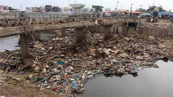 File image – Circa 2015, an unidentified location in Accra following a heavy downpour that left parts of the capital severely flooded.