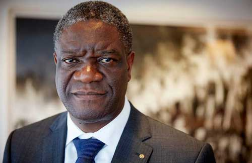 Dr. Denis Mukwege, fighting for the rights of rape survivors.