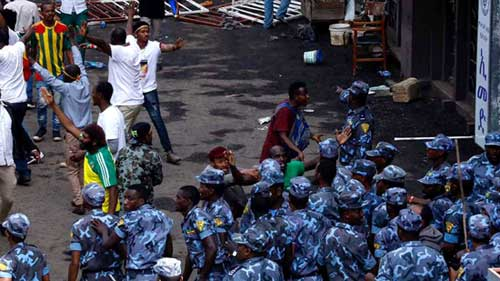 Scores injured in 'well-orchestrated attack' at Ethiopia rally. France24 photo