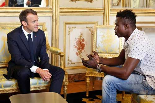 Mr Gassama met French President Emmanuel Macron on Monday