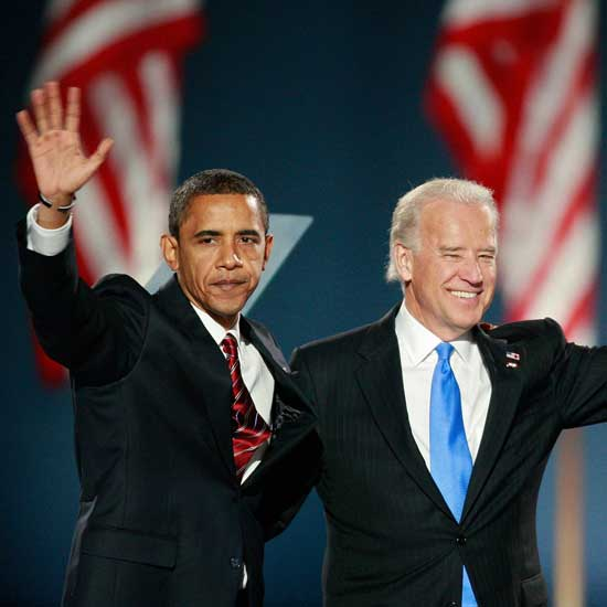 Obama and Biden in 2008. Photo: Scott Olson/Getty Images
