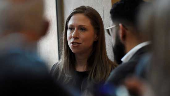 Chelsea Clinton confronted by college students at vigil for New Zealand victims