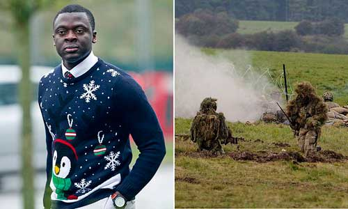 Michael Asiamah (pictured) is suing the military for £150,000 after accusing them of failing to protect him from the British winter. Image credit - dailymail