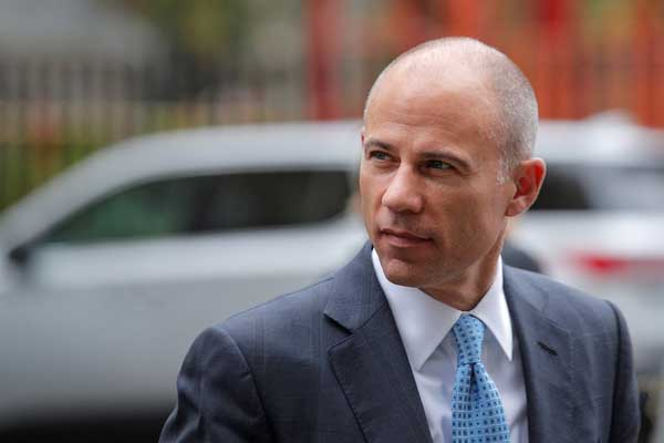 Michael Avenatti arrives at the United States Courthouse in New York on Oct. 8, 2019.