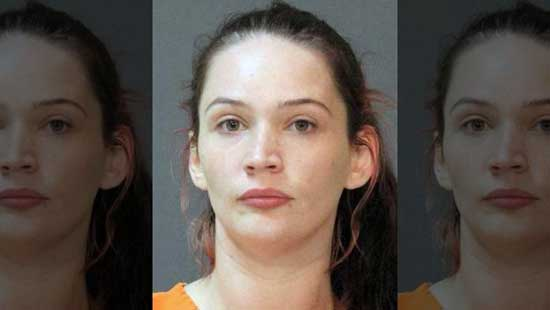 Sarah Parker is accused of failing to report the murder of Logan Kyle's wife. (Calcasieu Parish Sheriff's Office)