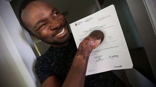 Seidu Mohammed walked across the U.S.-Canada border to Emerson, Man., last Christmas Eve