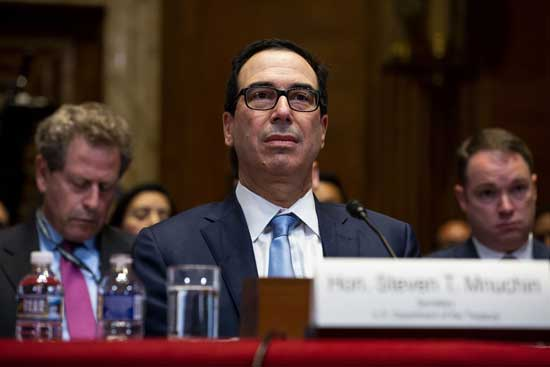 Treasury Secretary Steve Mnuchin had told lawmakers Wednesday that a request for the president's tax returns was likely headed to the courts. Image credit - NBC