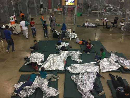 A view of inside US CBP detention facility shows children at Rio Grande Valley Centralized Processing. Reuters photo