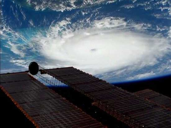 Hurricane Dorian is viewed from the International Space Station September 1, 2019 in a still image obtained from a video. NASA/Handout via REUTERS