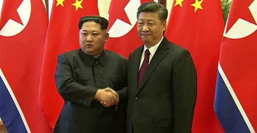 North Korea's Kim pledges 'denuclearisation' in China visit