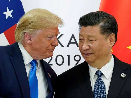 President Donald Trump meets with China's President Xi Jinping at the start of their bilateral meeting at the G20 leaders summit in Osaka, Japan, June 29, 2019.