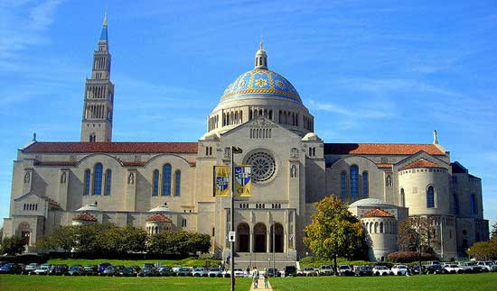 Basilica of the National Shrine of the Immaculate Conception. Image credit - Atlas Obscura