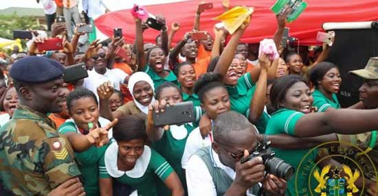File image: Trainee nurses celebrate the restoration of training allowances under the NPP government.