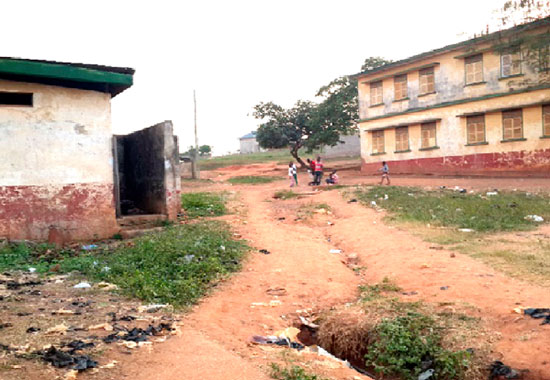 A school environment in Kumasi, Ashanti Region