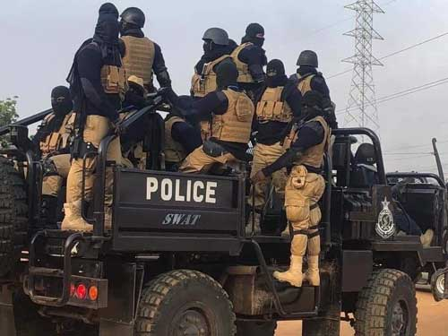 Heavily armed and unidentified security man at the Ayawaso West Wuguon Constituency by-election on 31st January 2019.