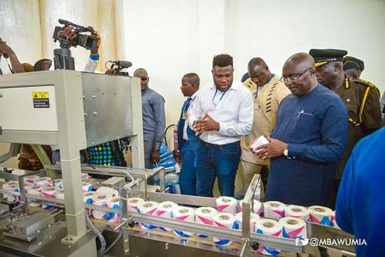 Dr Bawumia directs all govt institutions to buy made in Ghana toilet papers