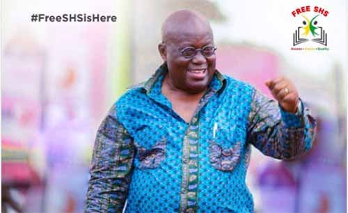 Akufo-Addo launches free SHS Tuesday - On WASS compound, Adentan