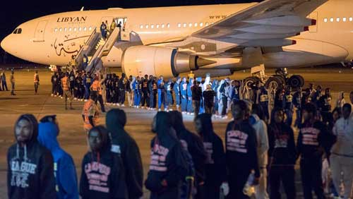 File image - Several Ghanaian migrants returned to Ghana from Libya in December of 2017.