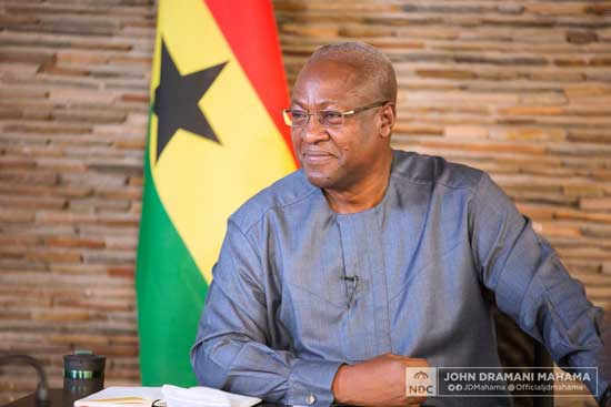 Full text: John Mahama's address at NDC's end of 3-day fasting and prayer against coronavirus. File image