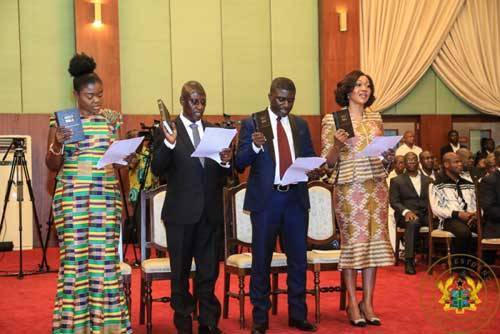 Remarks By President Akufo-Addo, At The Swearing-In Of The Chairperson, Deputy Chairpersons, And Member Of The Electoral Commission