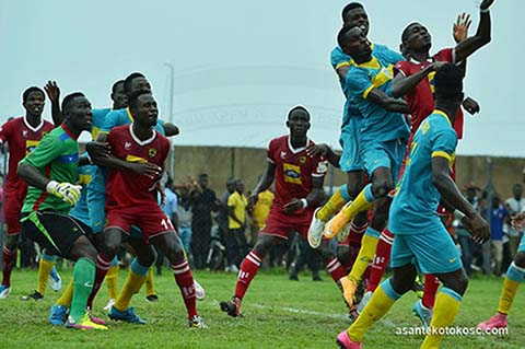 File image - Asante Kotoko vs. Wa All Stars now known as Legon Cities FC.