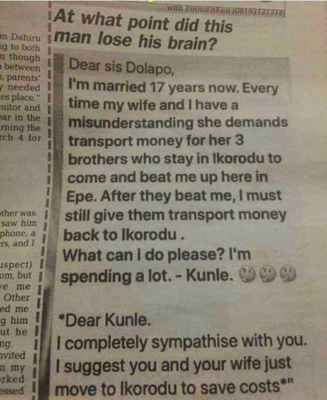 Marriage Wahala: At what point did this man lose his brain?