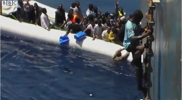 Dozens reported drowned as rubber boat sinks in Mediterranean
