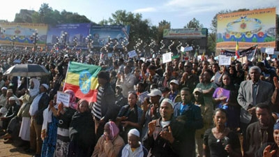 Thousands of Ethiopians march against IS group Christian killings
