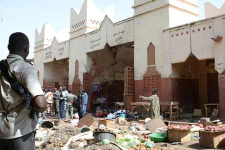 Thirteen people were killed on Friday in a triple attack in the northeastern Nigerian city of Damaturu targeting Muslim worshippers celebrating the end of the holy month of Ramadan.