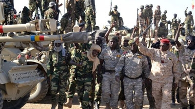 Chadian soldiers gather on 1 February 2015 near the Nigerian town of Gamboru Chadian troops have claimed victory over Boko Haram after a fierce battle and they have one of the best-trained armies in the regio