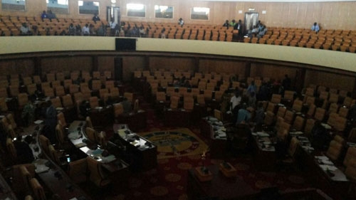 Sitting in Ghana's Parliament has to be suspended on the 22nd of July as standby generator had no fuel to operate on