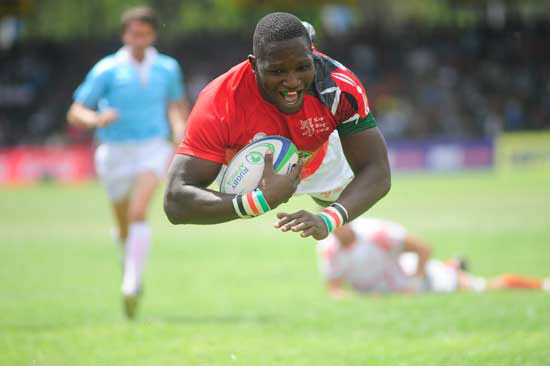Davis Chenge, captain of the Kenya rugby team