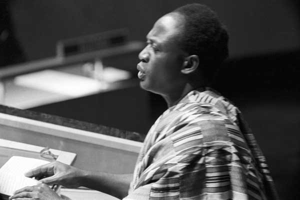Nkrumah in the UN general assembly in the early 1960s. Image credit: UN Photo/Marvin Bolotsky
